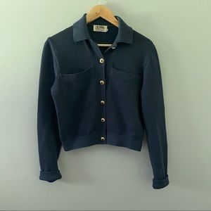 St. John collection navy cardigan